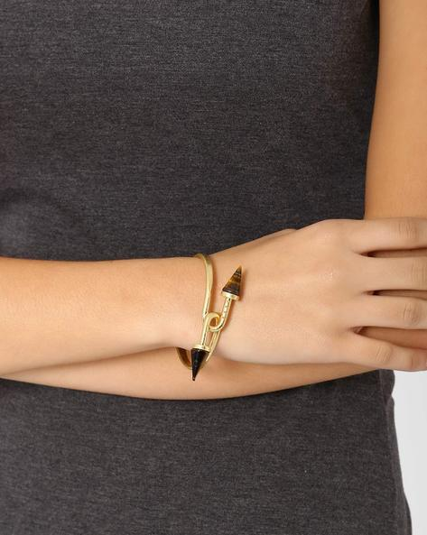 Arrowed Cuff Bracelet By Style Fiesta ( Gold )