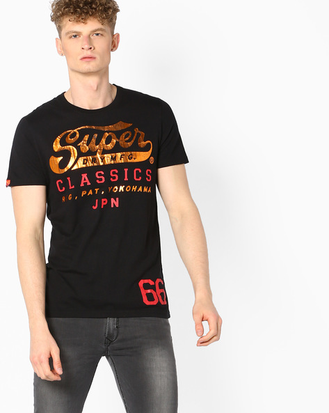 Printed Crew-Neck T-shirt By SUPERDRY ( 02a )