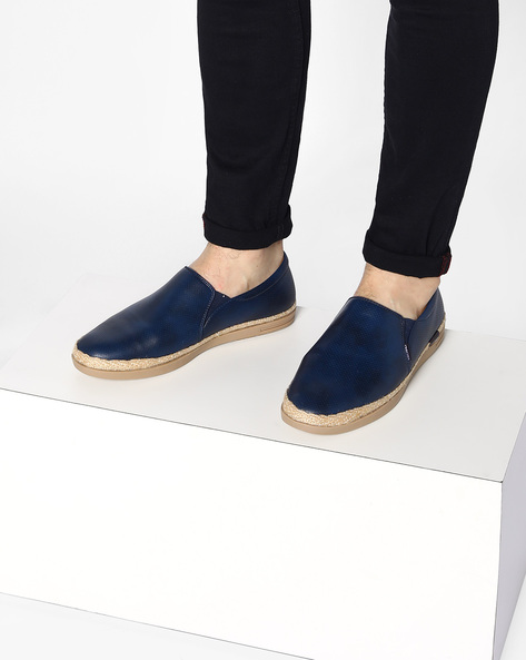 Espadrilles With Braided Outsole By ESCARO ( Blue )