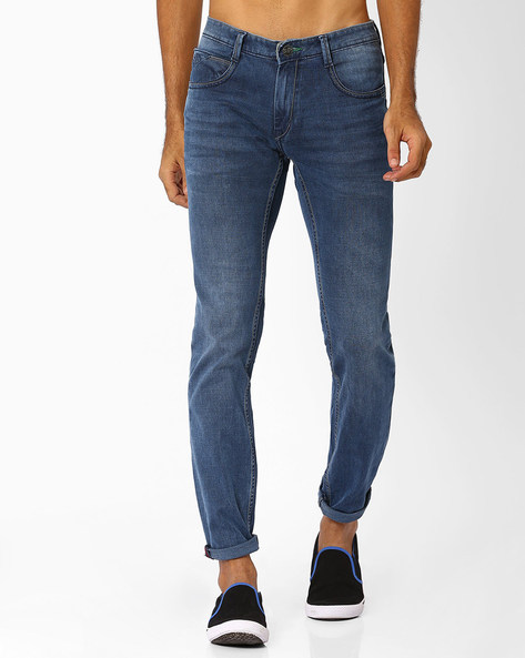 Low-Rise Lucifer Slim Fit Jeans By SIN ( Indigo )