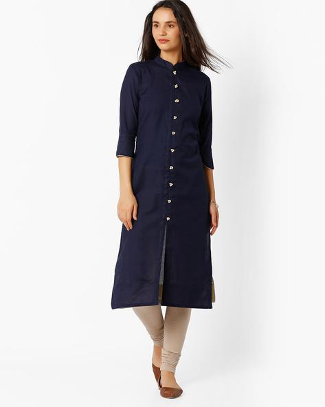 Straight Kurta With Mandarin Collar By BE INDI ( Assorted )