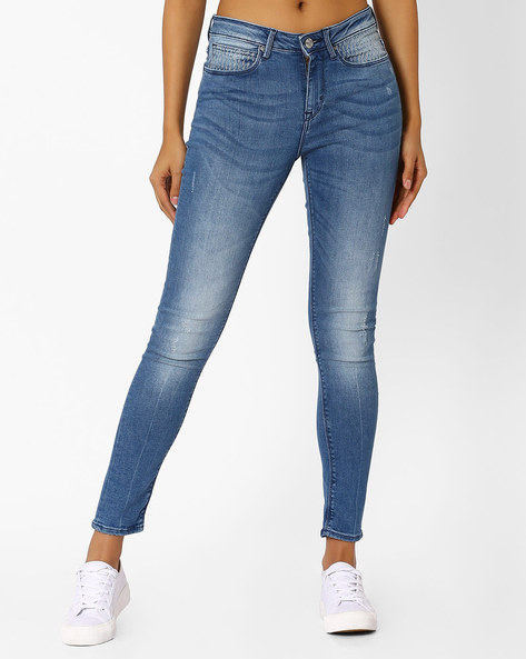 Ankle-Length Skinny Jeans By Lee ( Lightblue )