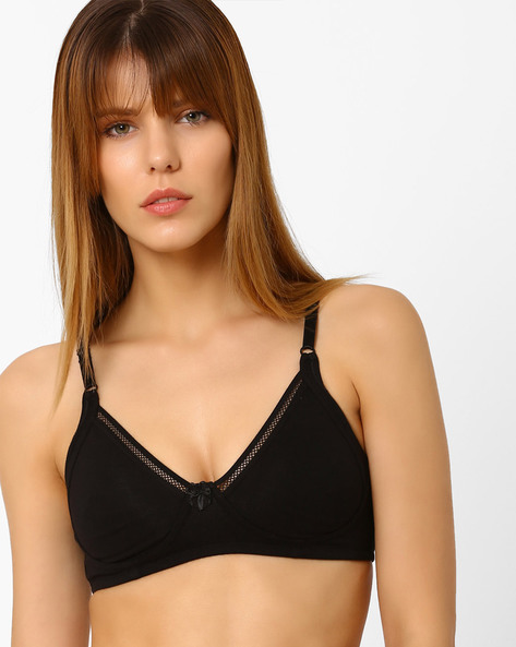 T-shirt Bra With Mesh Inserts By Zivame ( Black ) - 460076513001