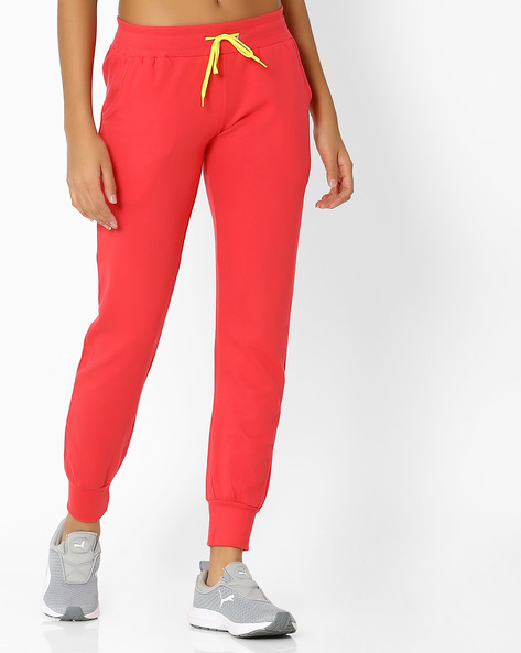 Cotton Joggers With Elasticated Waist By Teamspirit ( Pink )