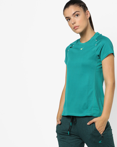 Quickdry Training T-shirt With Raglan Sleeves By PERFORMAX ( Dkgreen )