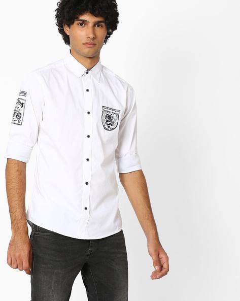 Pure Cotton Casual Shirt By AJIO ( Grey )