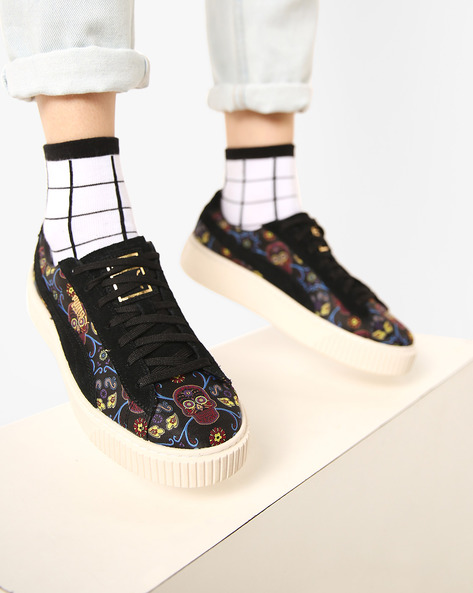 Printed Casual Shoes By Puma ( Black )