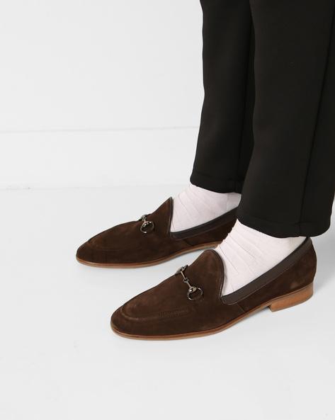 N9-Treated Slip-On Formal Shoes By AJIO ( Brown )