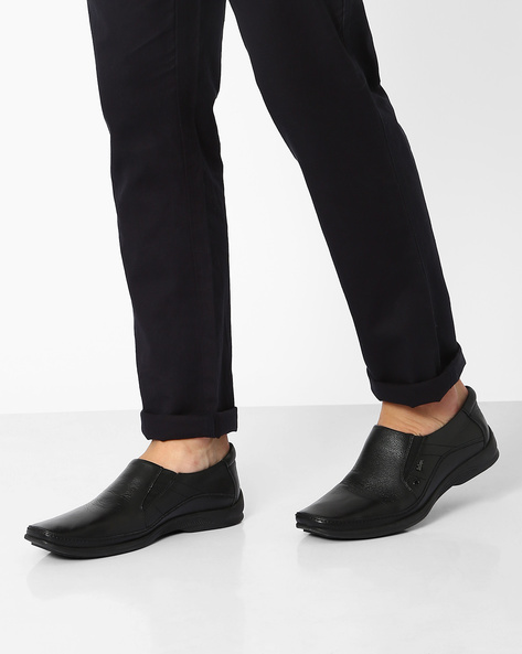 Genuine Leather Slip-On Shoes By Lee Cooper ( Black )