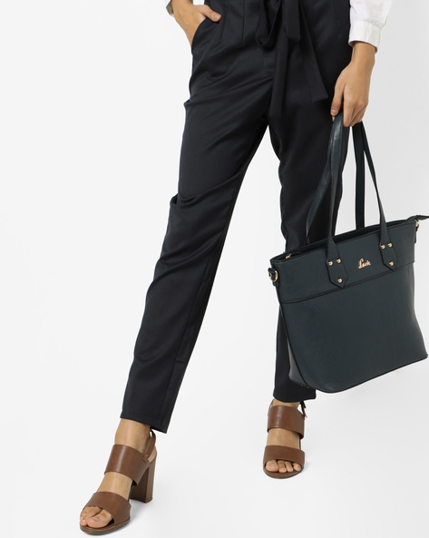 Textured Tote Bag By Lavie ( Navy ) - 460167319001