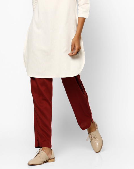 Salwar Pants With Drawstring Waist By Shree ( Violet )