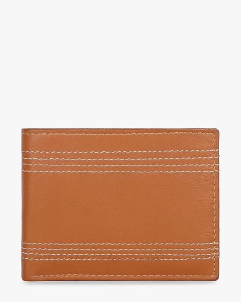 Leather Bi-Fold Wallet By TEAKWOOD LEATHERS ( Tan )