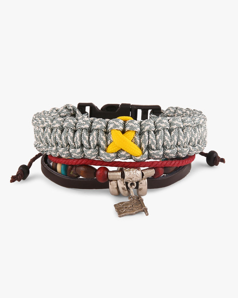 Set Of 2 Bracelets By ALPHA MAN ( Multicolor )