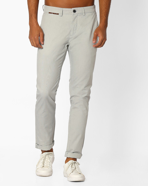 Fil-a-Fil Tapered Fit Dobby Chinos By NETPLAY ( Medgrey )