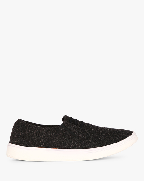 Slip-On Sneakers With Elasticated Gussets By Nuboy ( Black )