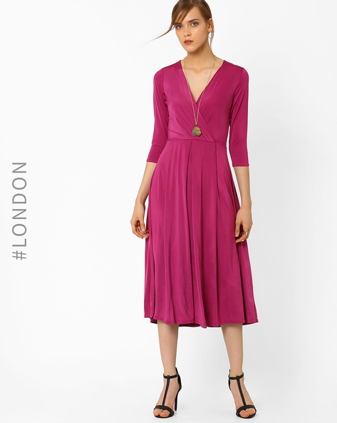 Maxi Dress With Pleats By Closet London ( Pink )