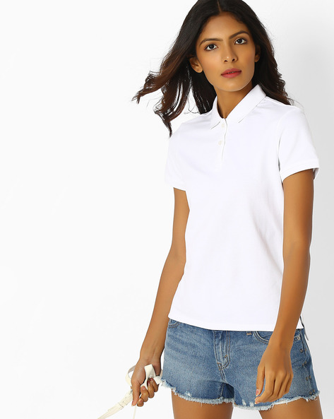 Polo T-shirt With Step Hem By LEVIS ( White )