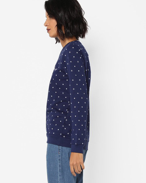 Sweatshirt With Starry Pattern By DNMX ( Navy )