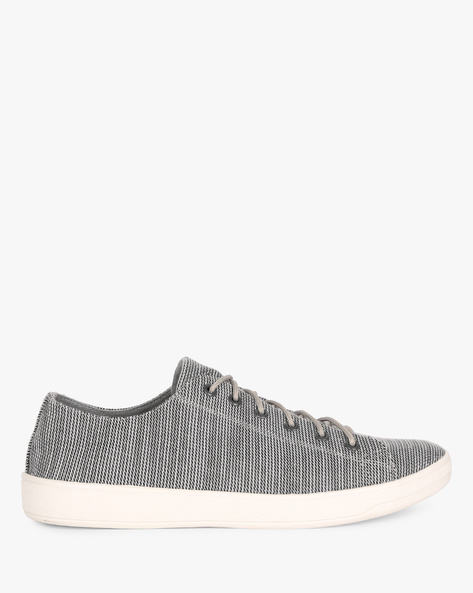 Printed Lace-Up Casual Shoes By AJIO ( Grey )
