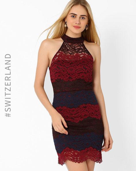 Lace Bodycon Dress By TALLY WEiJL ( Multi )