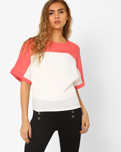 Panelled Boxy Top By CHM ( Ltpeach )