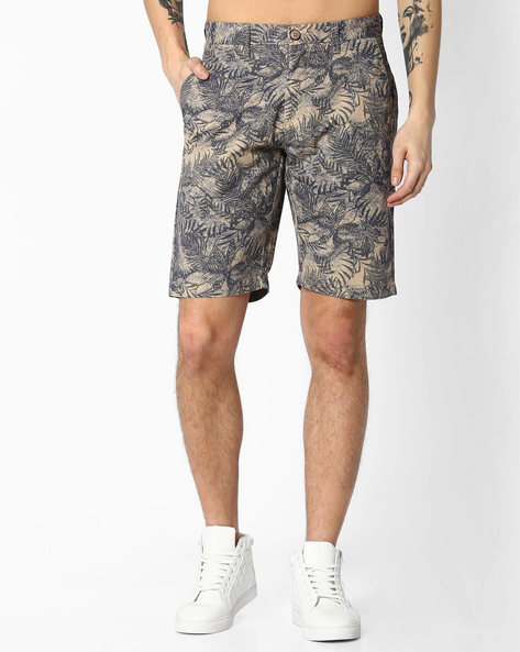 Tropical Print Cotton Shorts By US POLO ( Assorted )
