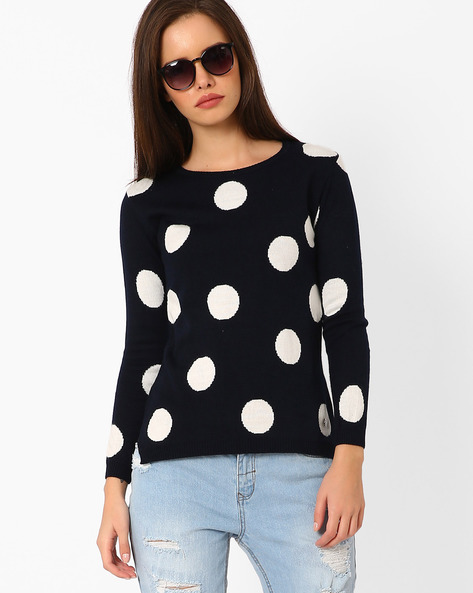 Polka-Dot Print Sweater By TAANZ WOMENS ( Assorted )