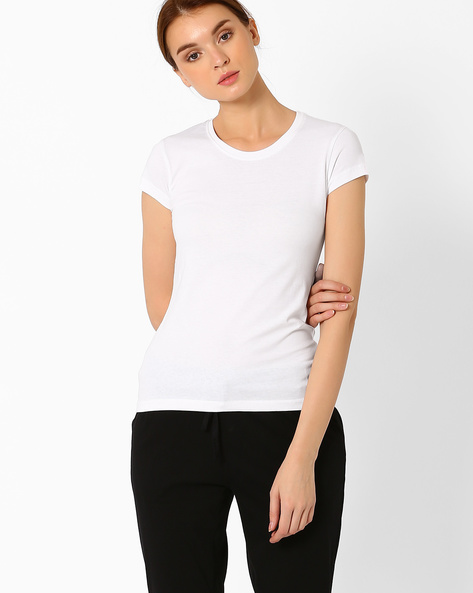 Odour-Protected Cotton Lounge T-shirt By Nod'R ( White )