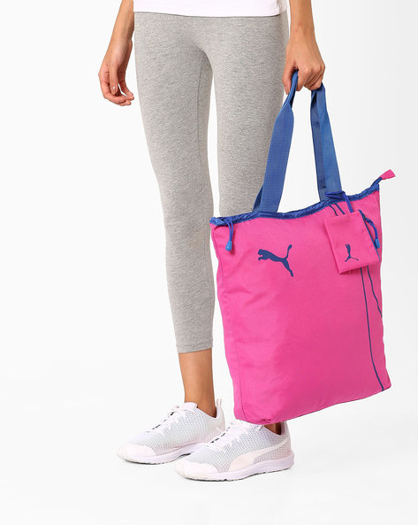 Fundamentals Shopper Tote Bag By Puma ( Pink )