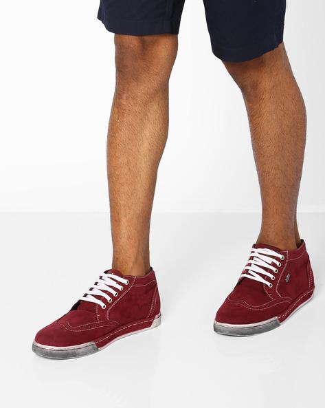 Sneakers With Broguing By BCK By Buckaroo ( Maroon )