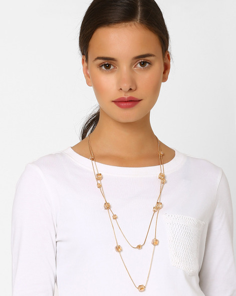 Gold-Plated Layered Dice Necklace By Style Fiesta ( Gold )