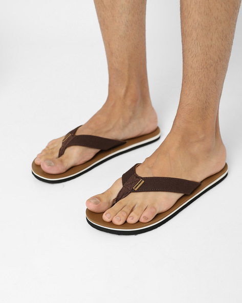 Colourblock Flip-Flops With Signature Branding By CONVERSE ( Brown )