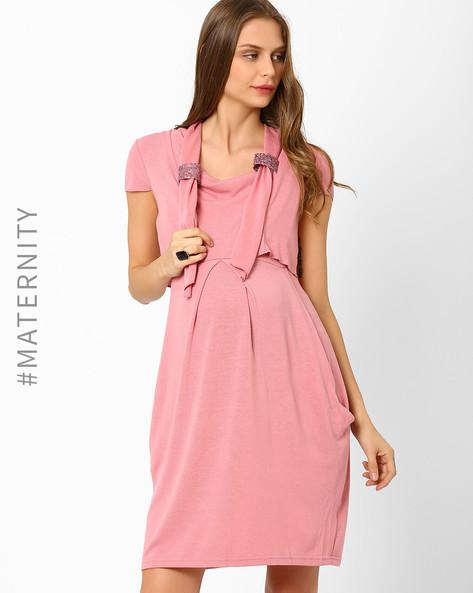 Embellished Crop Shrug By AJIO ( Pink )