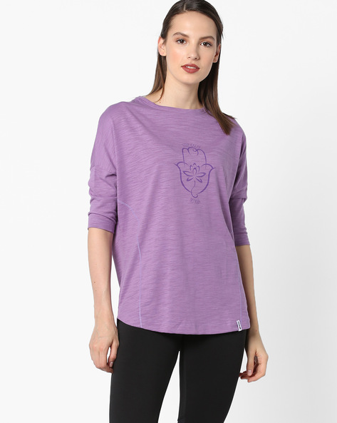 Panelled High-Low T-shirt With Drop Sleeves By 2Go ( Lavender )