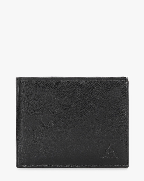 Genuine Leather Bi-fold Wallet By ALVARO CASTAGNINO ( Black ) - 460135662001