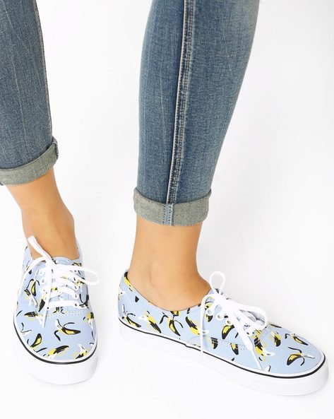 Vintage Kitsch Print Casual Shoes By Vans ( Multi )