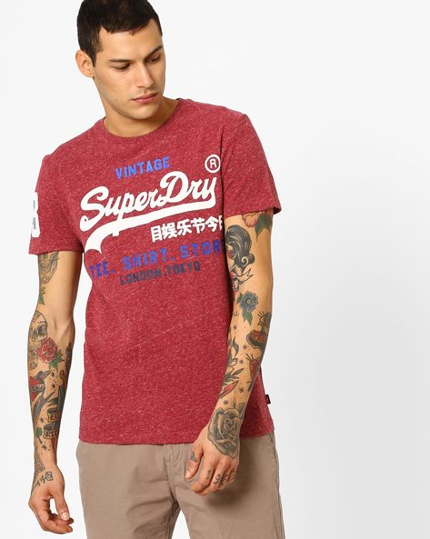 Printed Crew-Neck T-shirt By SUPERDRY ( Ai8 )