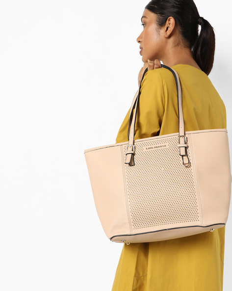 Studded Tote Bag By Lino Perros ( Beige )