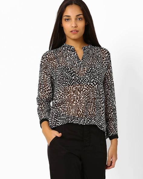 Printed High-Low Top By CHEMISTRY ( Multi )