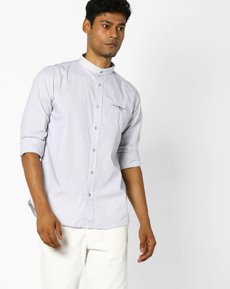 Striped Shirt With Curved Hem By GAS ( 3745 )
