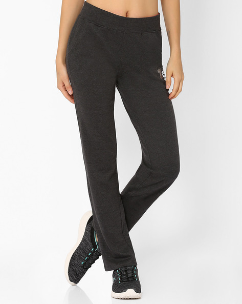 Mid-Rise Straight Fit Track Pants By TEAM SPIRIT ( Charcoal )