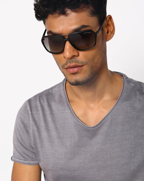 Full-Rim Square Sunglasses By Farenheit ( Green )