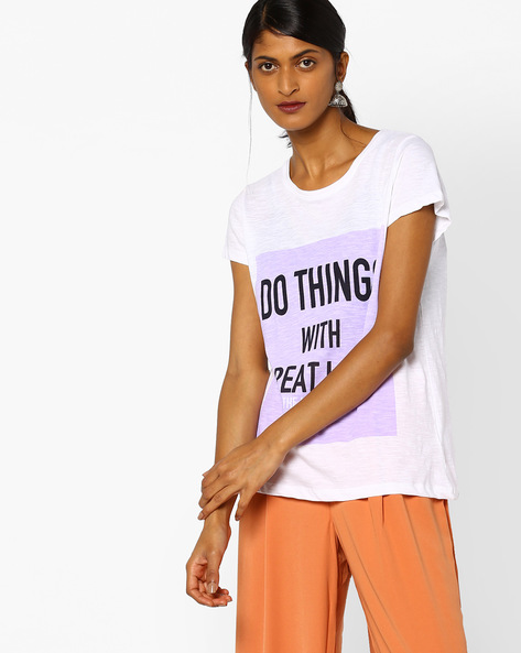 Graphic Print T-shirt By Lee ( White )