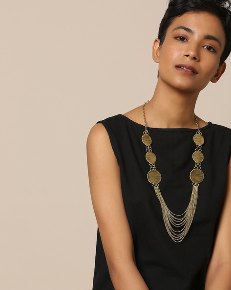 Multi-Layered Brass Necklace By Project Eve ( Multi )