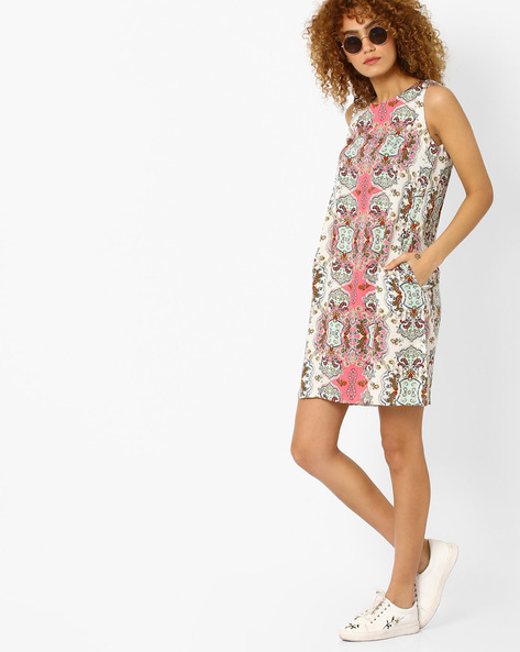 Printed Sleeveless Tunic By FIG ( Pink )