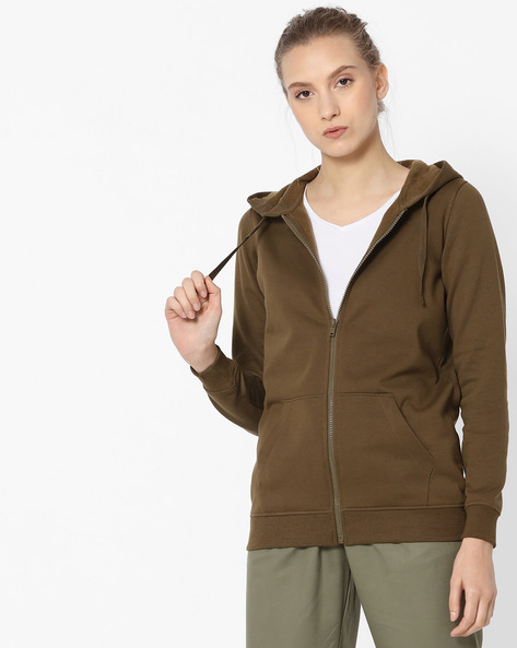Front-Zip Hoodie By Fame Forever By Lifestyle ( Olive )