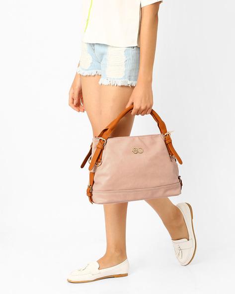 PU Leather Satchel Bag By E2O ( Black )