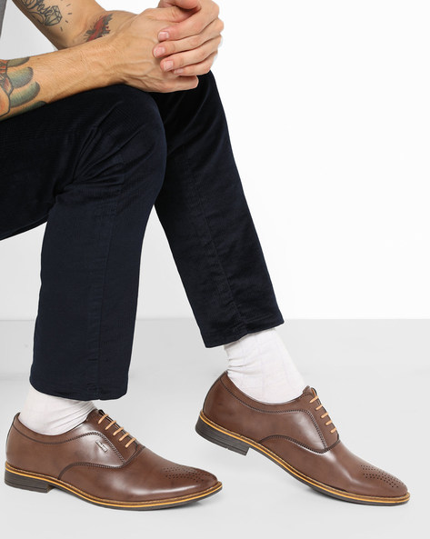 Lace-Up Formal Shoes By DUKE ( Brown )