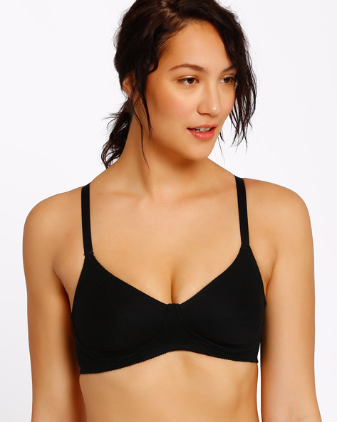 Double Layered Bra By Enamor ( Black )