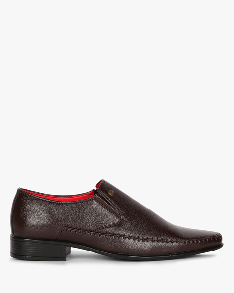 Panelled Formal Shoes With Elasticated Gussets By ALBERTO TORRESI ( Brown )